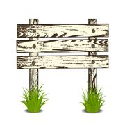 Wooden sign Stock Illustration
