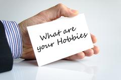 What are your hobbies text concept - stock photo