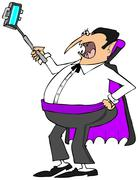 Vampire with a selfy stick Piirros
