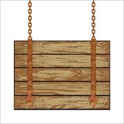 Wooden board - stock illustration