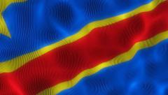 Waving Flag Republic of Congo Stock Footage