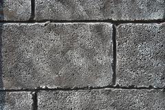 Gray grunge brick wall - stock photo