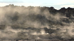 Iceland, Geothermal Area Stock Footage