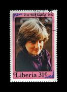 Lady Diana Spencer, Princess Of Wales, circa 1982. - stock photo