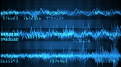 Heart,sound monitor with random numbers Stock Footage