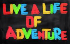 Live A Life Of Adventure Concept - stock illustration
