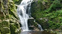 Kamienczyk Waterfall. Poland Stock Footage