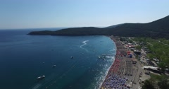 Jaz is a beach in the Budva Municipality in Montenegro Stock Footage