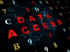 Stock Illustration of Data concept: Data Access on Digital background