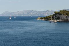 Adriatic sea in Croatia, Makarska town. Stock Photos