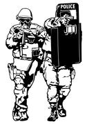Special Police Forces - stock illustration