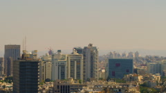 Royalty Free Stock Video Footage of a panoramic Tel Aviv skyline shot in Israel Stock Footage