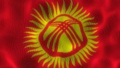 Waving Flag Kyrgyzstan - stock footage