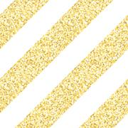 New Year seamless gometric pattern with golden glitter textured stripes Stock Illustration