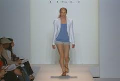 Fashion models walking on runway for IISLI Collection Stock Footage