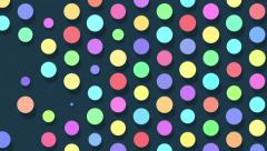 Colorful dots popping up and disappearing. Abstract animation background. Stock Footage