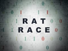 Finance concept: Rat Race on Digital Paper background - stock illustration