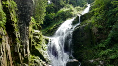 Kamienczyk Waterfall. Poland Stock Footage