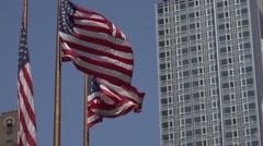 NewYork and American Flag Stock Footage