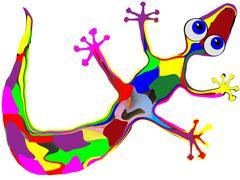 Lovely Gecko - stock illustration