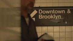 NewYork Subway sign Stock Footage