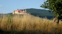 Krasna Horka Castle, Roznava Slovakia Stock Footage