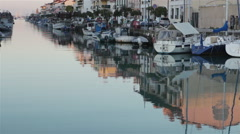 Caorle Italian Port 03 Stock Footage