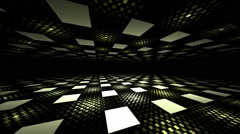 3D seamless illusion perspective geometric background Stock Footage