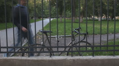unlock on the bike - stock footage