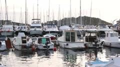 VRSAR, ISTRIA - AUG. 2015. Boat Marina Stock Footage