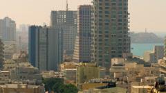 Tel Aviv and the Mediterranean Sea shot in Israel at 4k Stock Footage