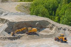 Excavation Ground Works. Stock Photos