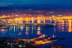 Gulf of La Spezia in the Liguria Region of Northern Italy - stock photo