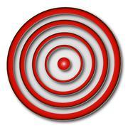 red aim - stock illustration