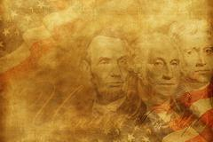 United States of America Presidents Background Stock Photos