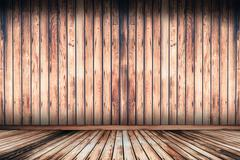 Rustic Aged Wooden Floor and Wall Background Stock Illustration