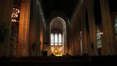 Church Interior Focusing Arkistovideo