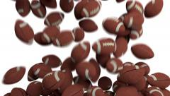 American footballs fill screen transition composite overlay 4K Stock Footage