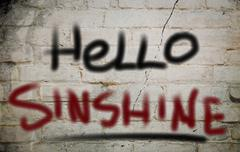 Hello Sunshine Concept - stock illustration