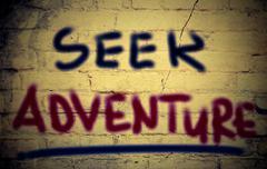 Seek Adventure Concept Stock Illustration