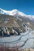 Marsyangdi river, Tibet. Stock Photos