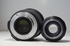 Two Lenses - stock photo