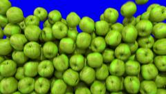 Apples green fill screen transition composite overlay element 4K Stock Footage