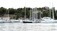 VRSAR, ISTRIA - AUG. 2015. Boats - stock footage