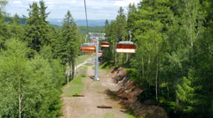 Stock Video Footage of Chairlift ride
