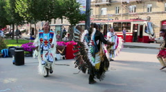 Itinerant musicians from Ecuador in the streets of St. Petersburg, Russia Stock Footage