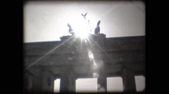 SUPER8 - GERMANY - Berlin - Brandenburg Tor with sunset Stock Footage