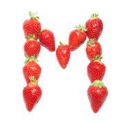Strawberry health alphabet - stock photo