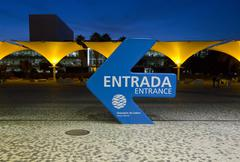 entrance of Lisbon Aquarium - stock photo