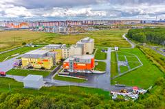 Federal center of neurosurgery, Tyumen, Russia - stock photo